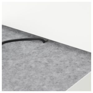 НОРДЛИ Каркас кровати отд д хран изголовье, белый 180x200 см. Артикул: 992.972.24