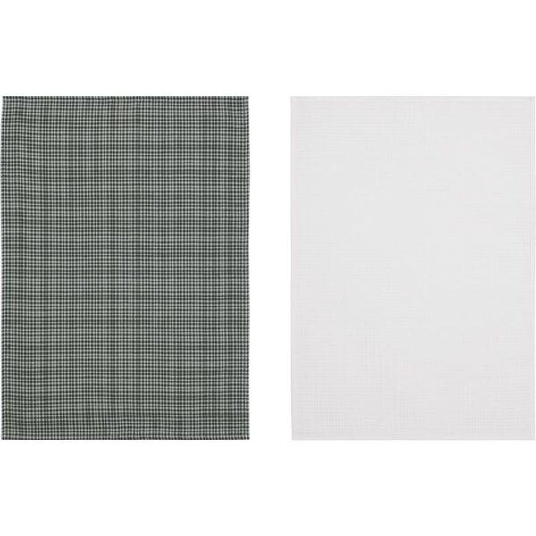 ТРОЛЛЬПИЛ Полотенце кухонное белый/зеленый 50x70 см - Артикул: 803.653.31