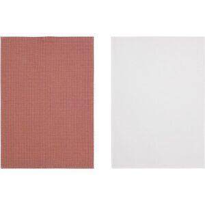 ТРОЛЛЬПИЛ Полотенце кухонное белый/красный 50x70 см - Артикул: 303.720.08