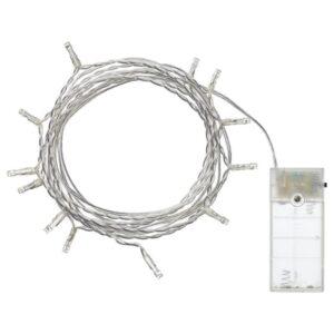 ЛЕДФИР Гирлянда, 12 светодиодов, для помещений/с батарейным питанием серебристый - Артикул: 404.210.27