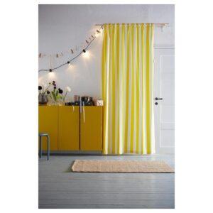 СОФИА Ткань в широкую полоску/белый/желтый 150 см - Артикул: 004.210.53
