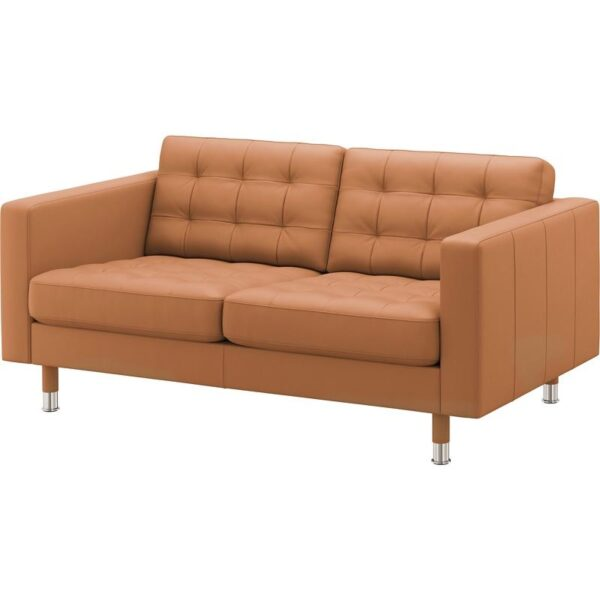 ЛАНДСКРУНА 2-местный диван Гранн/Бумстад золотисто-коричневый/металл - Артикул: 992.702.72
