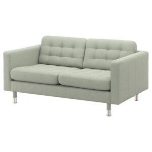 ЛАНДСКРУНА 2-местный диван, Гуннаред светло-зеленый/металл - Артикул: 592.702.88