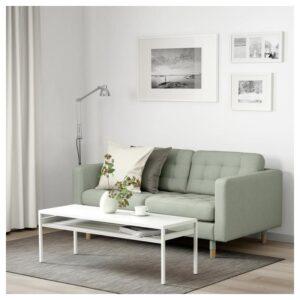 ЛАНДСКРУНА 2-местный диван, Гуннаред светло-зеленый/дерево - Артикул: 592.702.93