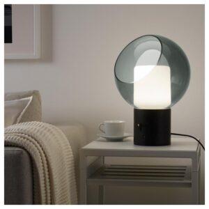 ЭВЕДАЛЬ Лампа настольная, серый/шаровидный - Артикул: 903.579.48