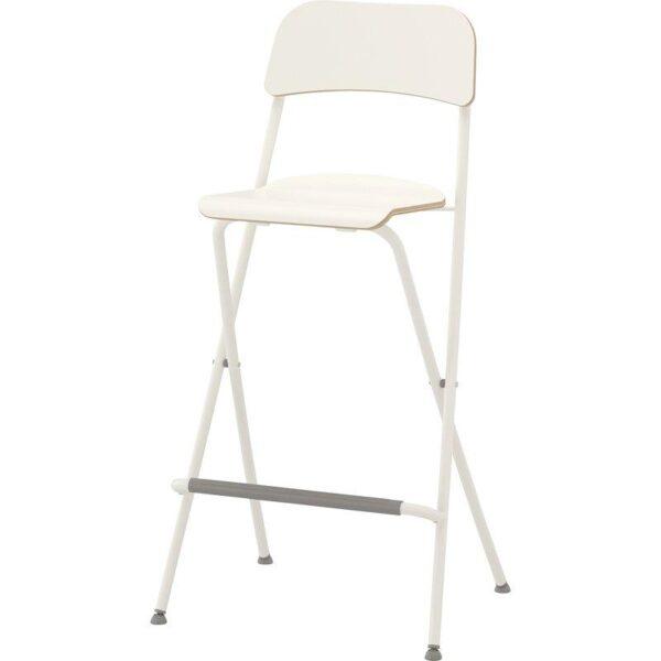 ФРАНКЛИН Стул барный, складной белый/белый 74 см - 704.048.80