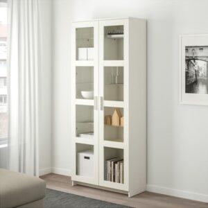 БРИМНЭС Шкаф-витрина белый 80x190 см - Артикул: 104.098.90