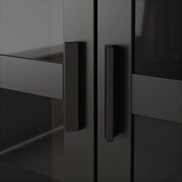 БРИМНЭС Шкаф-витрина черный 80x190 см - Артикул: 504.098.88
