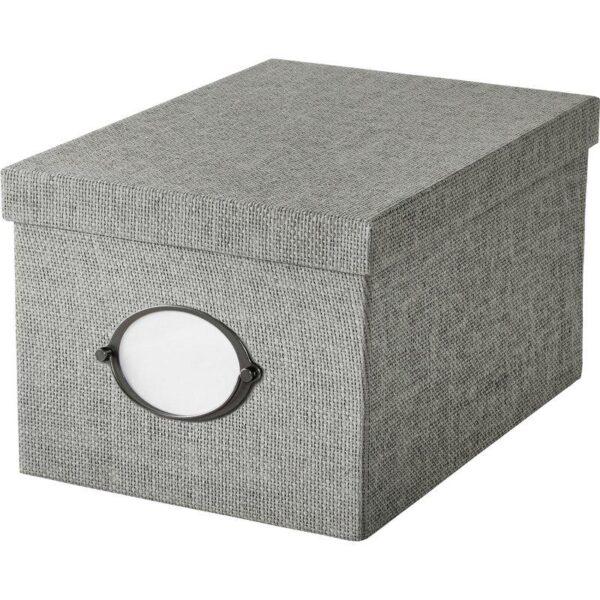 КВАРНВИК Коробка с крышкой серый 25x35x20 см - Артикул: 704.128.80