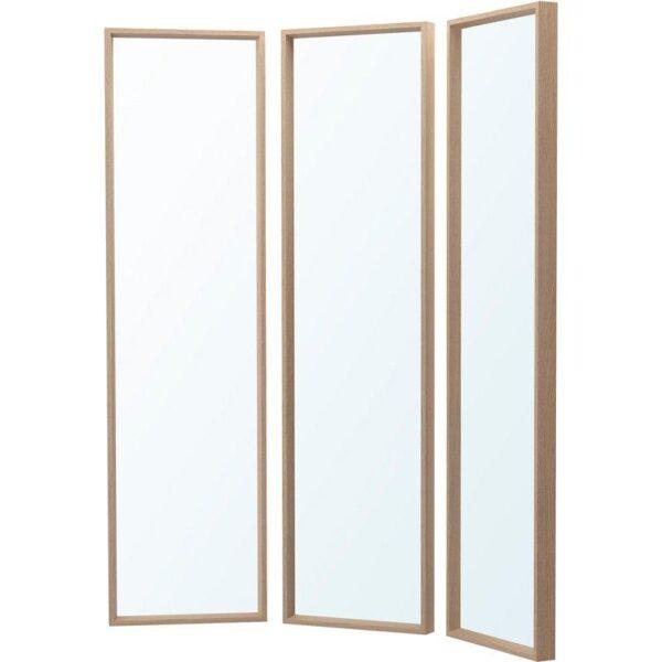 НИССЕДАЛЬ Комбинация зеркал под беленый дуб 130x150 см - Артикул: 892.754.73