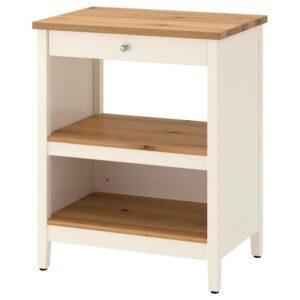 ТОРНВИКЕН Кухонн стол-остров белый с оттенком/дуб 72x52 см - Артикул: 704.022.73