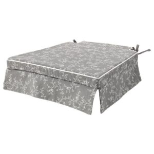 ЭЛЬСЭБЭТ Подушка на стул, серый 43x42x4.0 см - Артикул: 204.100.82