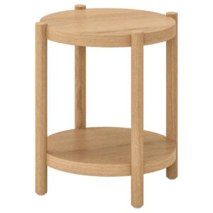 ЛИСТЕРБИ Придиванный столик белая морилка дуб 50 см - Артикул: 704.090.43
