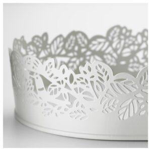 САМВЕРКА Тарелка для свечи овал белый 35x15 см - Артикул: 303.887.21