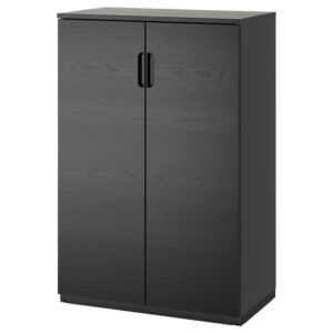 ГАЛАНТ Шкаф с дверями ясеневый шпон/черная морилка 80x120 см - Артикул: 503.651.44