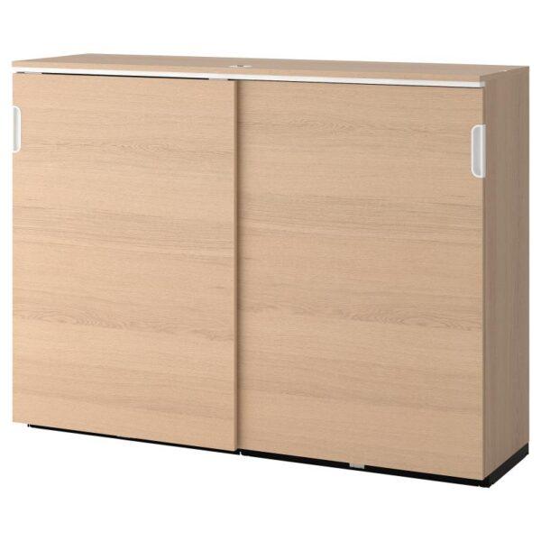 ГАЛАНТ Шкаф с раздвижными дверцами дубовый шпон, беленый 160x120 см - Артикул: 503.682.32