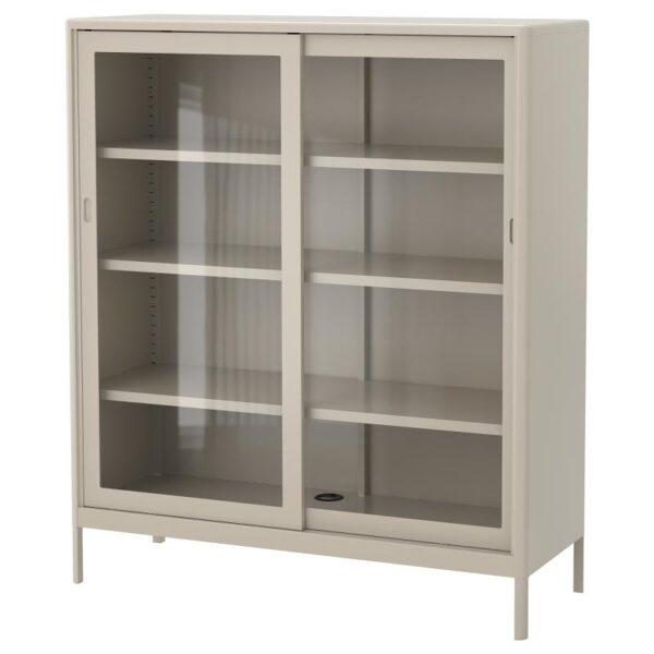 ИДОСЕН Шкаф+раздвижные стеклянные дверцы бежевый 120x140 см - Артикул: 503.609.57