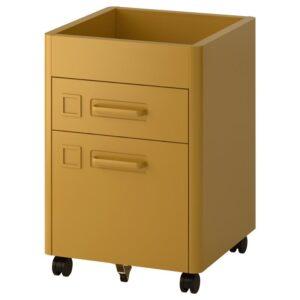 ИДОСЕН Тумба с ящиками на колесах золотисто-коричневый 42x61 см - Артикул: 103.980.90