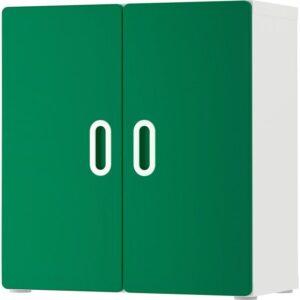 СТУВА / ФРИТИДС Навесной шкаф белый/зеленый 60x30x64 см - Артикул: 692.767.46