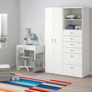 СТУВА / ФРИТИДС Шкаф платяной белый/белый 120x50x192 см | Артикул: 792.750.77
