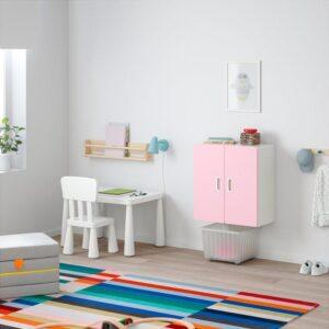 СТУВА / ФРИТИДС Навесной шкаф белый/светло-розовый 60x30x64 см - Артикул: 592.767.42