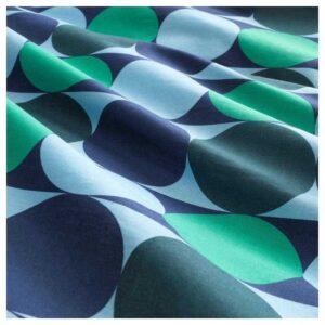 КРОКУСЛИЛЬЯ Пододеяльник и 2 наволочки, синий/зеленый 200x200/50x70 см. Артикул: 204.232.73