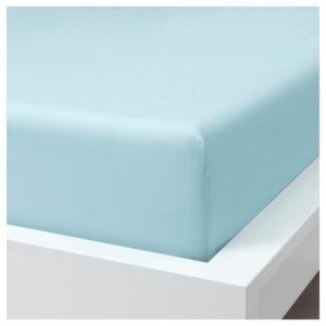 ДВАЛА Простыня натяжная, голубой 180x200 см. Артикул: 904.236.32