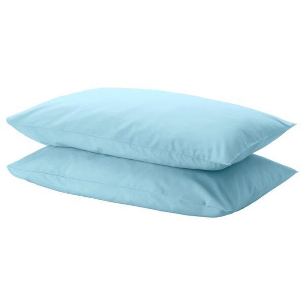 ДВАЛА Наволочка, голубой 50x70 см. Артикул: 504.236.53