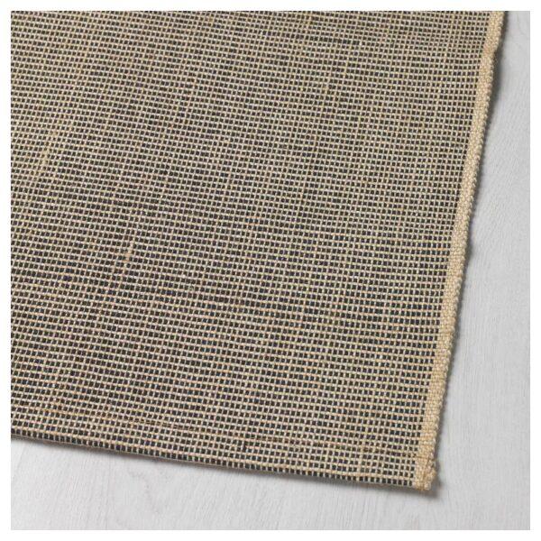 ЛИЗБЬЕРГ Ковер безворсовый, небеленый черный/естественный 60x90 см - Артикул: 004.243.58