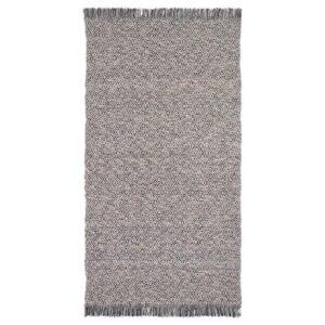 РЁРКЭР Ковер безворсовый, черный/естественный 80x150 см - Артикул: 304.187.80