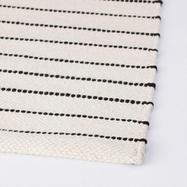 ТЁРСЛЕВ Ковер безворсовый полоска белый/черный 80x150 см - Артикул: 204.187.09