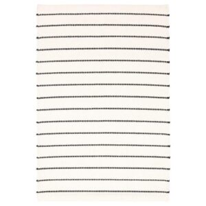 ТЁРСЛЕВ Ковер безворсовый черный/белый 60x90 см - Артикул: 904.262.30