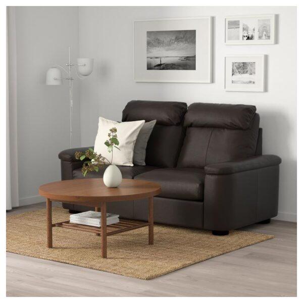 ЛИДГУЛЬТ 2-местный диван, Гранн/Бумстад темно-коричневый - Артикул: 992.570.20