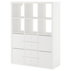 КАЛЛАКС Стеллаж с 6 вставками белый 112x147 см - Артикул: 892.782.64