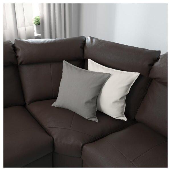 ЛИДГУЛЬТ Угловой 6-местный диван, с козеткой/Гранн/Бумстад темно-коричневый - Артикул: 392.572.64