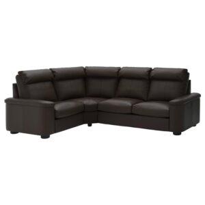 ЛИДГУЛЬТ 4-местный угловой диван, Гранн/Бумстад темно-коричневый - Артикул: 192.574.20