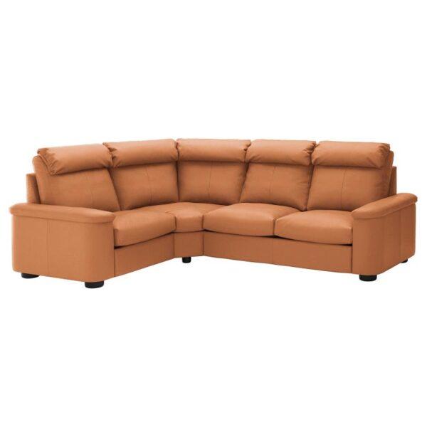 ЛИДГУЛЬТ 4-местный угловой диван, Гранн/Бумстад золотисто-коричневый - Артикул: 092.756.22
