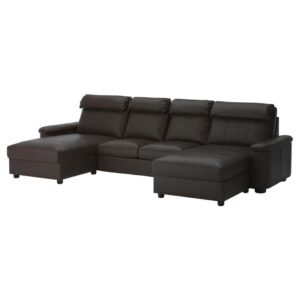 ЛИДГУЛЬТ 4-местный диван, с козеткой/Гранн/Бумстад темно-коричневый - Артикул: 692.573.52