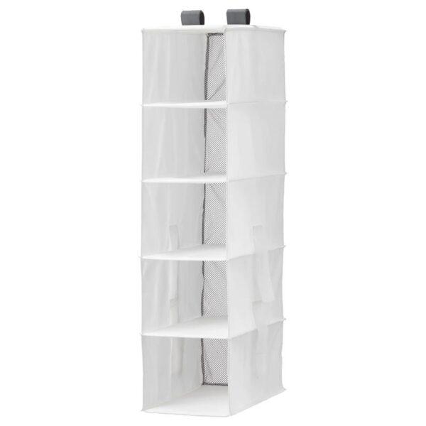 РАССЛА Модуль для хранения с 5 отделениями, белый 25x40x98 см - Артикул: 904.213.41