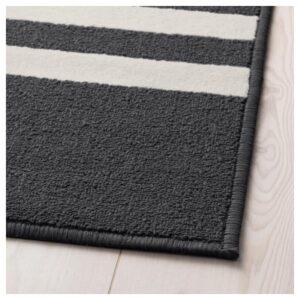 ШЕЛЬДЕ Ковер, короткий ворс черный/разноцветный 120x180 см - Артикул: 103.914.80