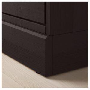 ХАВСТА Тумба под ТВ, с цоколем темно-коричневый 160x62x47 см - Артикул: 903.910.37