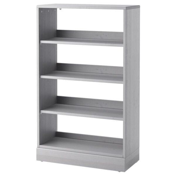 ХАВСТА Стеллаж с цоколем серый 81x134x37 см - Артикул: 092.750.90