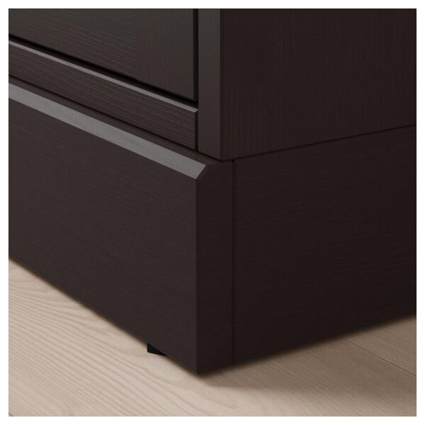 ХАВСТА Шкаф с цоколем темно-коричневый 81x134x37 см - Артикул: 792.750.96