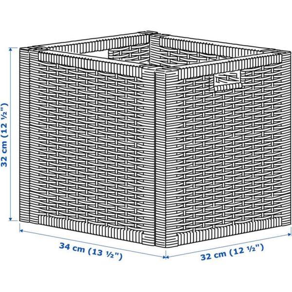 БРАНЭС Корзина белый 32x34x32 см - Артикул: 503.763.93