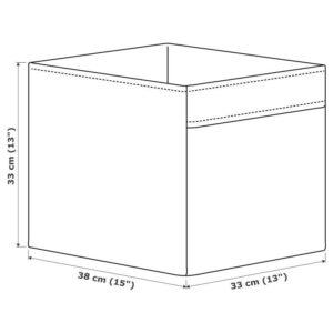 ДРЁНА Коробка, темно-серый 33x38x33 см - Артикул: 004.439.79