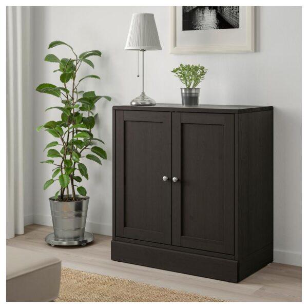 ХАВСТА Шкаф с цоколем темно-коричневый 81x89x47 см - Артикул: 803.910.52
