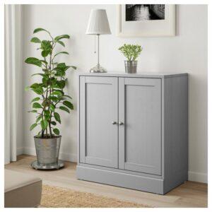 ХАВСТА Шкаф с цоколем серый 81x89x47 см - Артикул: 104.186.82