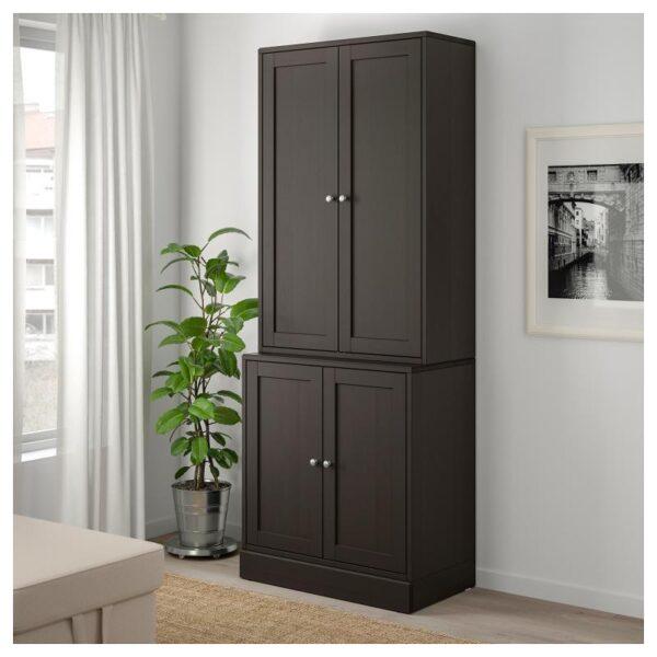 ХАВСТА Комбинация для хранения с дверцами темно-коричневый 81x212x47 см - Артикул: 192.659.86