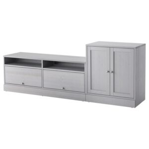 ХАВСТА Шкаф для ТВ, комбинация серый 242x89x47 см - Артикул: 592.658.85