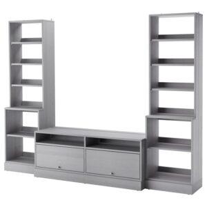 ХАВСТА Шкаф для ТВ, комбинация серый 282x212x47 см - Артикул: 292.658.44